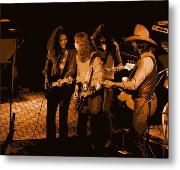 Outlaws #26 Crop 2 Art In Amber Metal Print