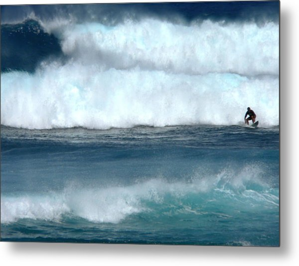 Outrunning The Wave Metal Print