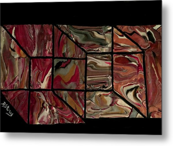 Outside The Box I Metal Print