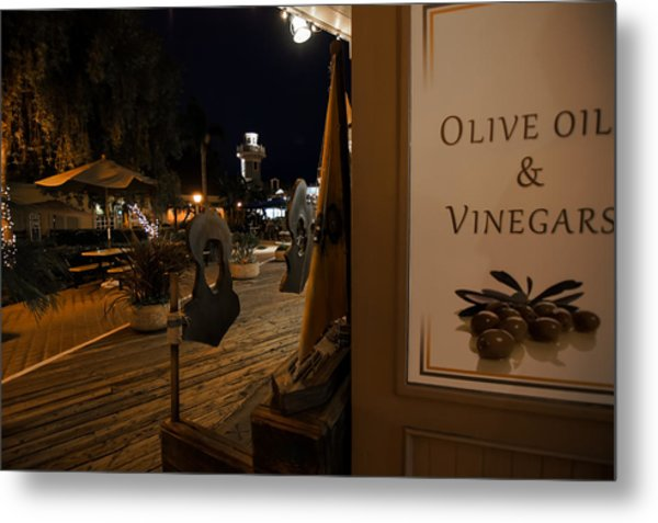 Outside The Oil And Vinegar Shop Metal Print