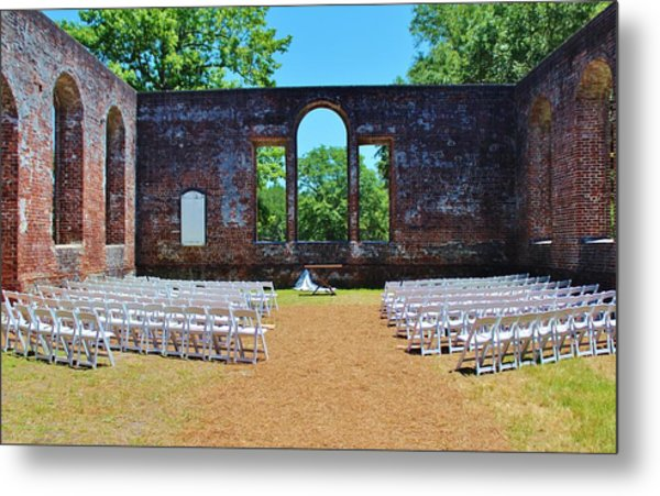 Outside Wedding Metal Print