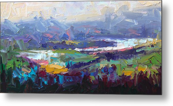 Overlook Abstract Landscape Metal Print