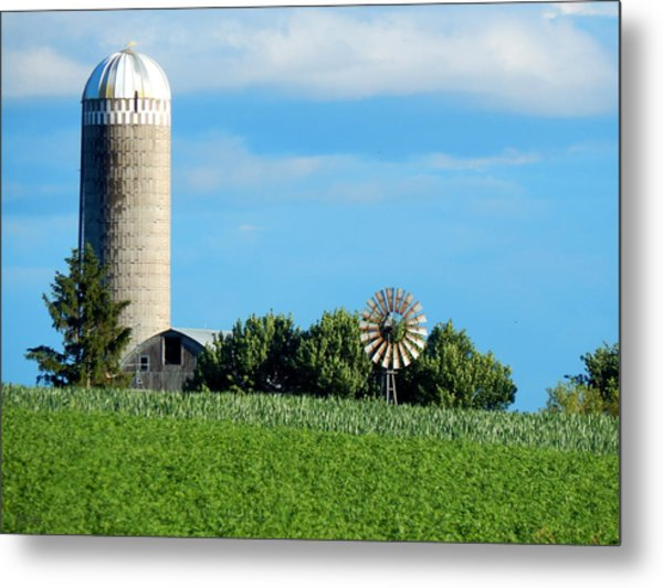 Over Fields Metal Print