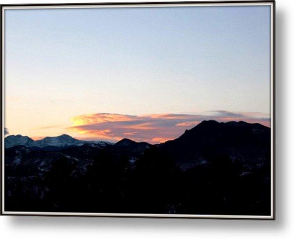 Over Lookout Mountain Golden Colorado Metal Print by Misty Herrick