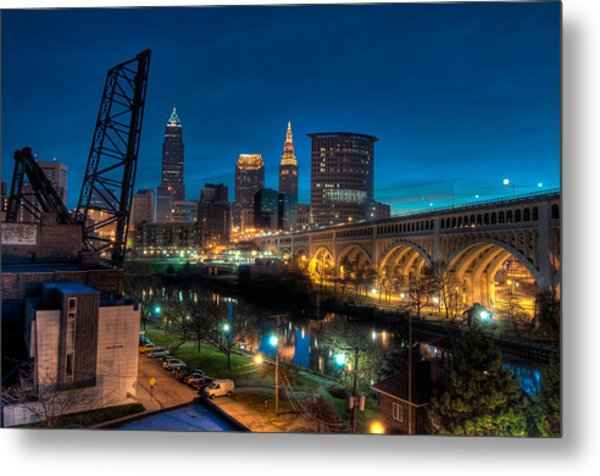 Over The Cuyahoga Before Sunrise Metal Print