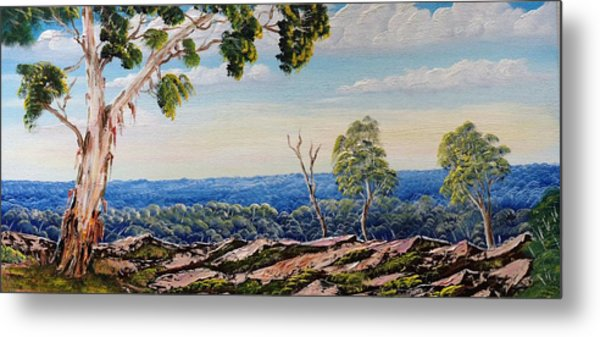 Over The Hill Metal Print by David Belcastro
