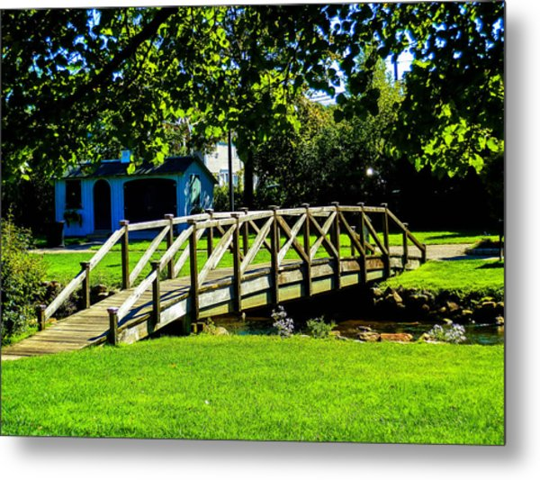 Over The River Metal Print by Heather Sylvia
