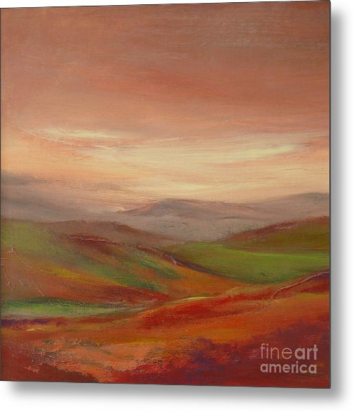 Over The Valley Metal Print