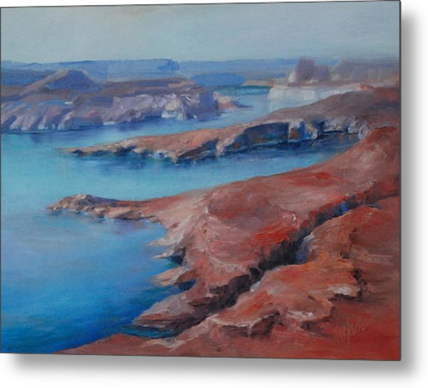Overlooking Lake Powell Metal Print by Donna Pierce-Clark