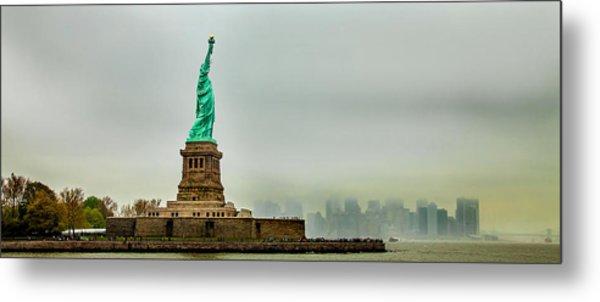 Overlooking Liberty Metal Print