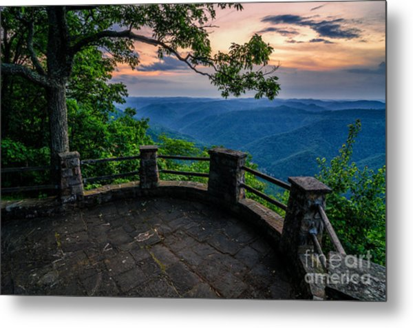 Overlooking The Valley Metal Print