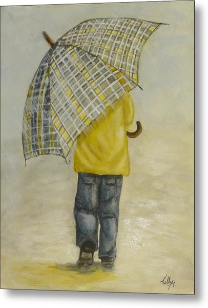 Oversized Umbrella Metal Print
