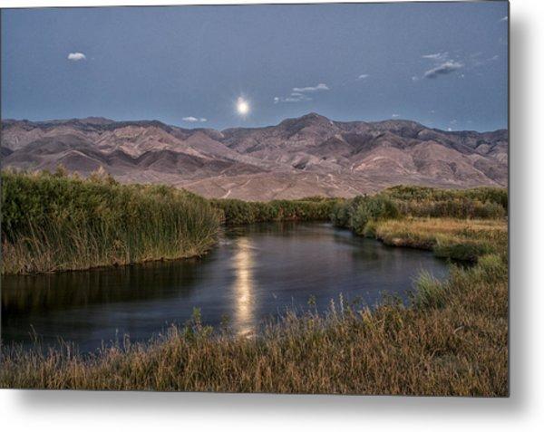 Owens River Moonrise Metal Print
