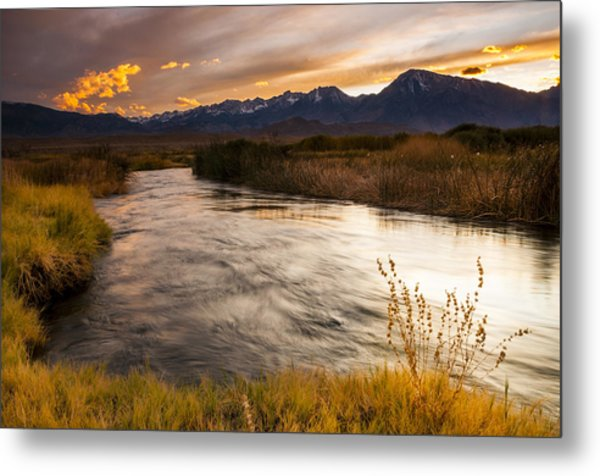 Owens River Sunset Metal Print