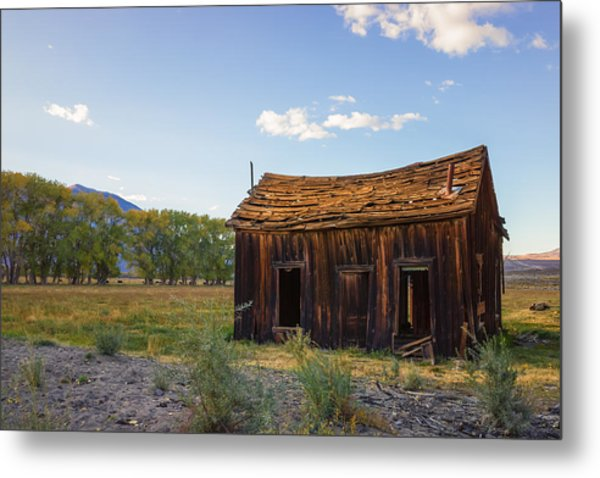 Metal Print featuring the photograph Owens Valley Shack by Priya Ghose