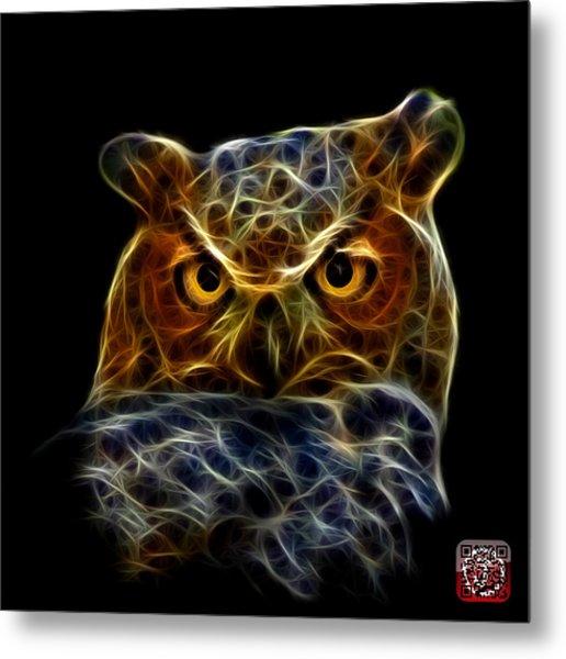 Metal Print featuring the digital art Owl 4436 - F M by James Ahn