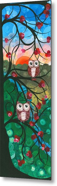 Owl Couples - 03 Metal Print