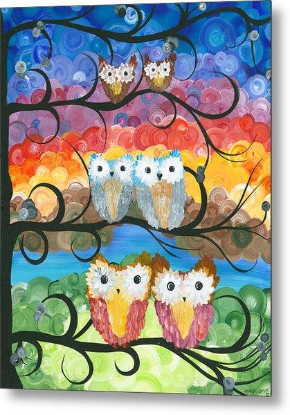 Owl Expressions - 00 Metal Print