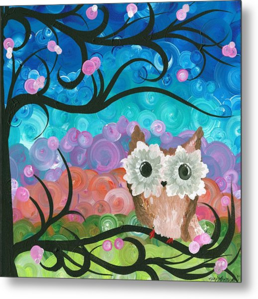 Owl Expressions - 01 Metal Print