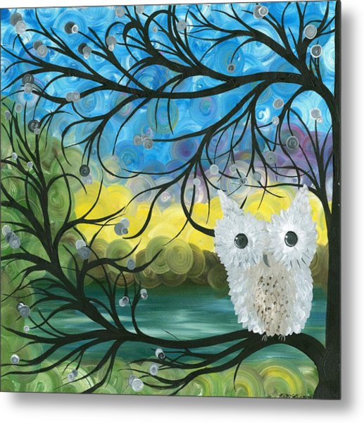 Owl Expressions 04 Metal Print