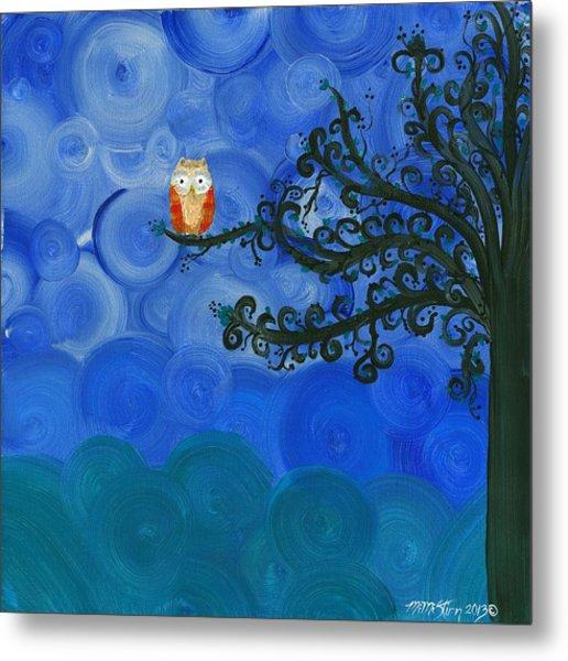Owl Singles - 01  Metal Print