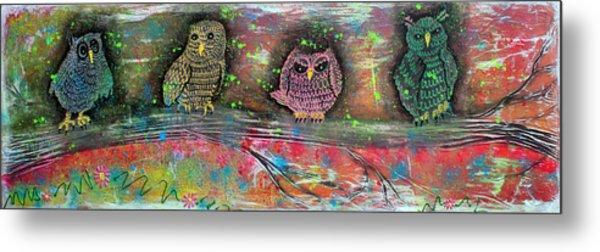 Owl Totem Metal Print by Laura Barbosa