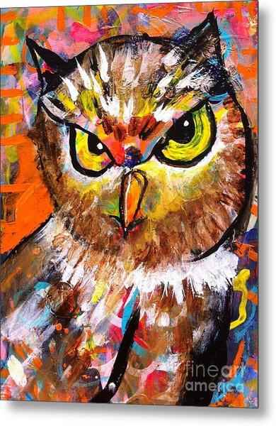 Owl With An Attitude Metal Print