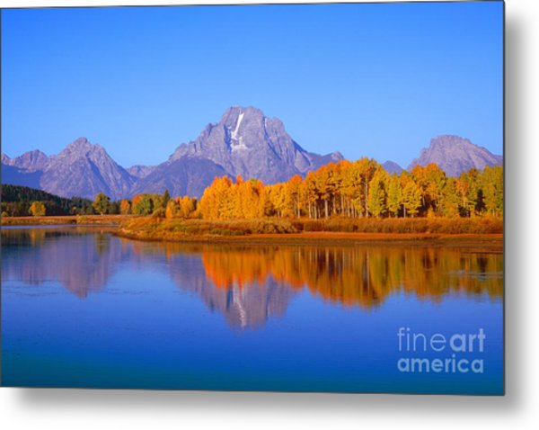Oxbow Bend In Grand Teton Metal Print