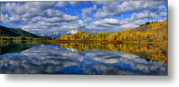 Oxbow Bend Peak Autumn Panorama Metal Print