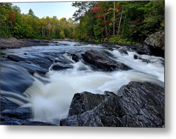 Oxtongue River Rapids Panoramic Metal Print