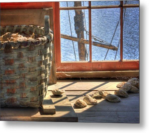 Oyster Basket Metal Print