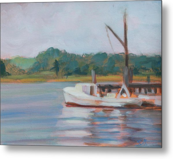 Oyster Boat On The Chesapeake Metal Print