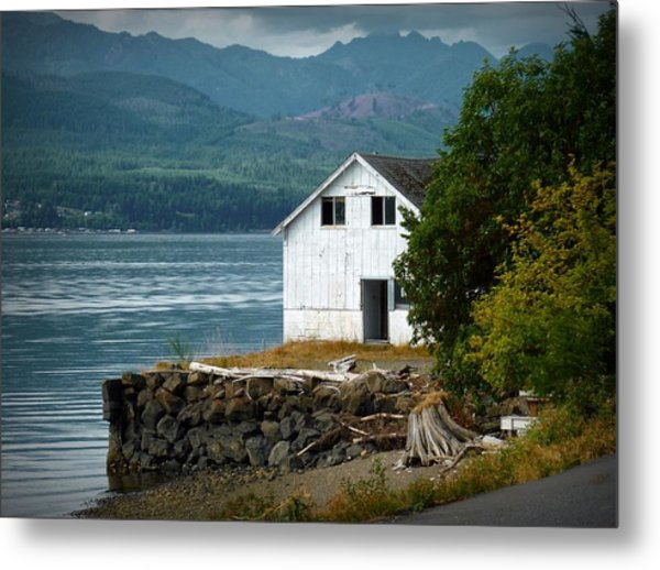 Old Oyster Shack Metal Print