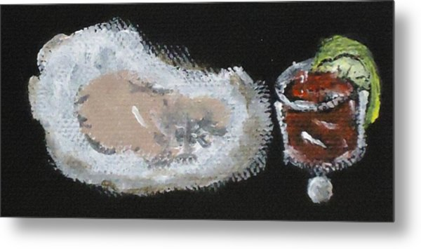 Oysters Yummy Metal Print by Katie Spicuzza