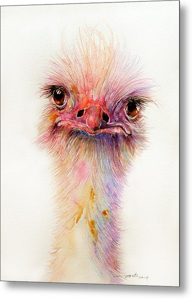 Ozzy The Ostrich Metal Print