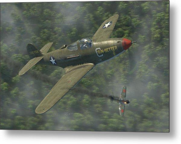 P-39 Airacobra Vs. Zero Metal Print
