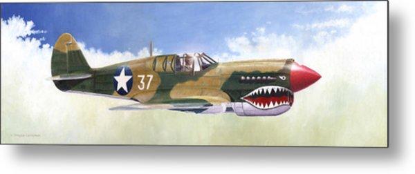 P-40e Warhawk Metal Print