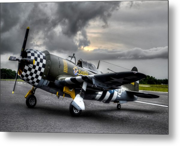 P-47 Sunset Metal Print
