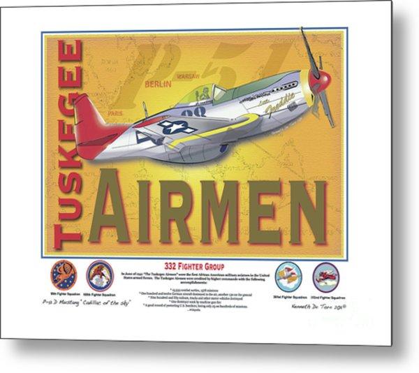 P-51 D Tuskegee Airmen Metal Print
