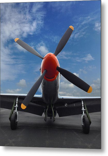 P-51 Ready For Flight Metal Print