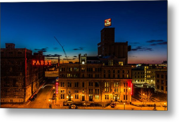 Pabst U-turn Metal Print