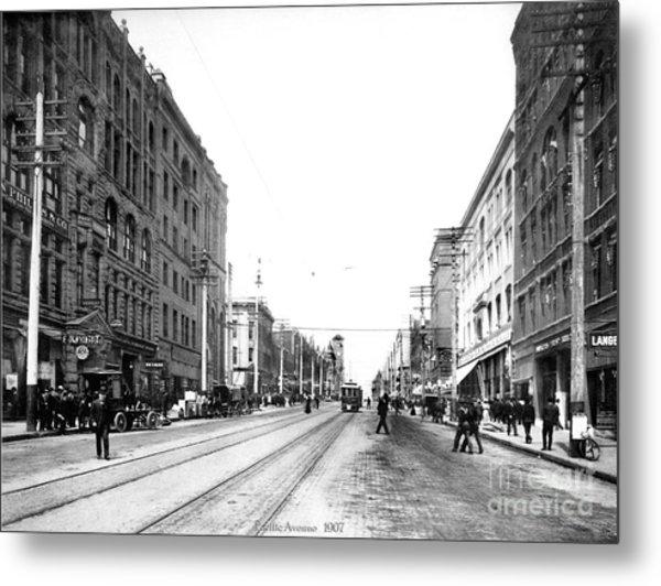Pacific Avenue Tacoma 1907 Metal Print