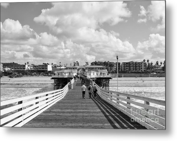 Pacific Beach From Crystal Pier Metal Print