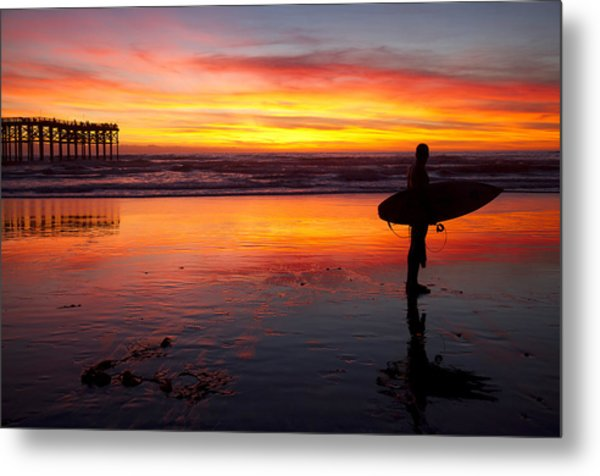 Pacific Beach Was On Fire Tonight Metal Print