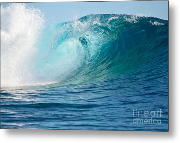 Pacific Big Wave Crashing Metal Print