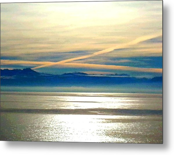 Pacific Blue Metal Print
