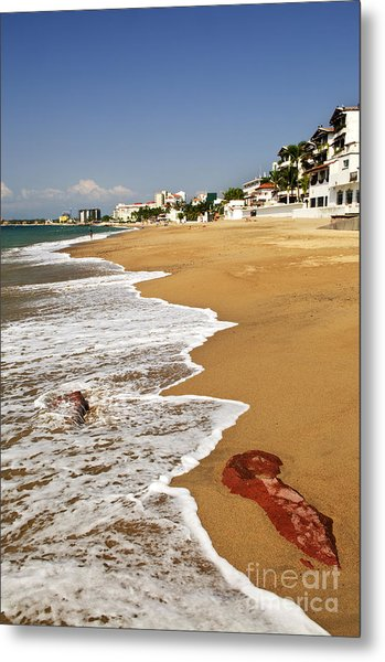 Pacific Coast Of Mexico Metal Print