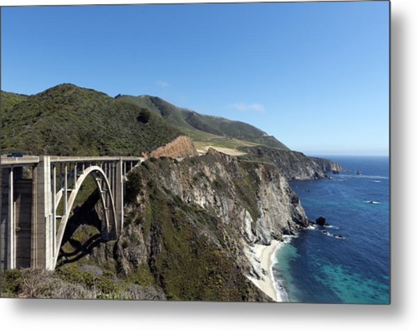Pacific Coast Scenic Highway Bixby Bridge Metal Print