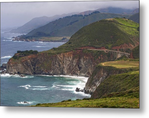 Pacific Coast View Metal Print