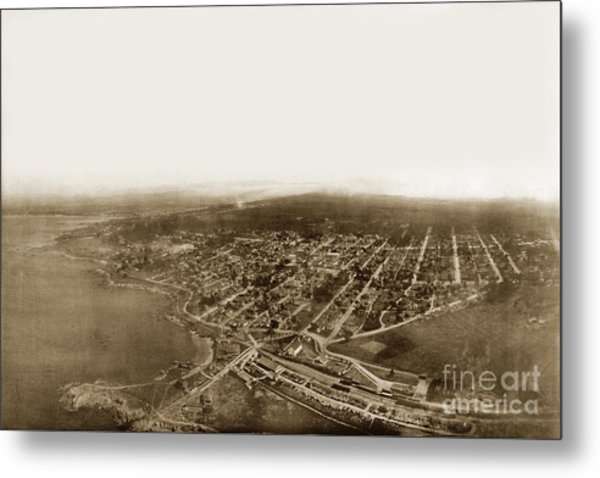 Pacific Grove 1200 From Feet Above Lovers Point And Monterey Bay 1906 Metal Print